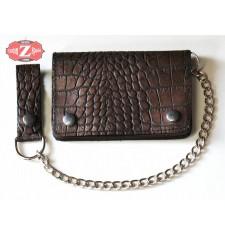 Portefeuille avec Chaîne en métal mod, DANDY (10 x 15 cm) - Brun -