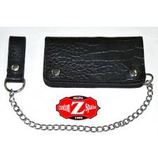 Portefeuille avec Chaîne en mètal mod, DANDY (9 x 17 cm) - Noir -