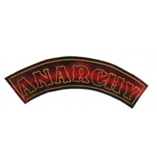 Embossed leather patch mod, ANARCHY - Red -