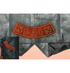 Embossed leather patch mod, SPAIN - Brown -