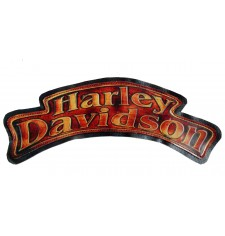 Embossed leather patch mod, HARLEY DAVIDSON - Flames 2 -