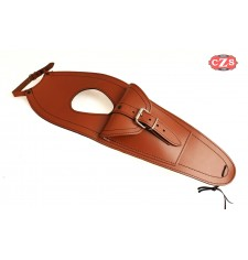 Leather tank panel for Royal Enfield Bullet Classic 350-500cc Basic - Light Brown -