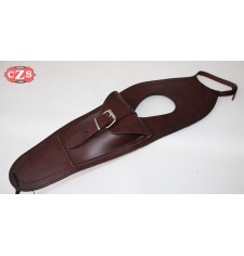 Leather tank panel for Royal Enfield Bullet Classic 350-500cc Basic - Brown -