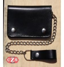 Basis Biker Wallet mit Metallkette (10 x 12 cm) - Schwarz -