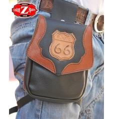 Leg bag MOEBIUS - Route 66 - Brown -