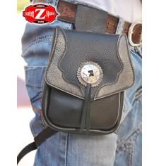 Leg bag  MOEBIUS - Gray - 1 concho -