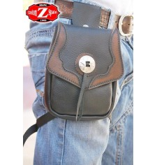 Leg bag  MOEBIUS - Brown - 1 concho -