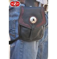 Leg bag MOEBIUS - Burgundy - 1 concho -