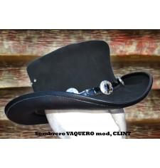 Chapeau en cuir mod,  CLINT - NOIR -