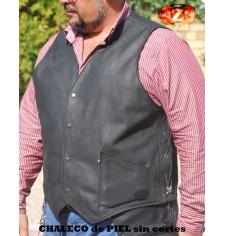 Chaleco Custom de piel Engrasada sin cortes