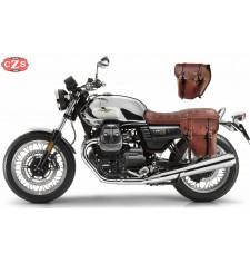 Set de Alforjas para Moto Guzzi V7 III mod, CENTURION Básica Adaptables - Marrón