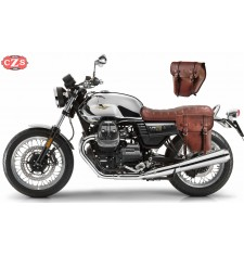 Set of saddlebags for Guzzi V7 III mod, CENTURION Basic Adaptable - Brown -