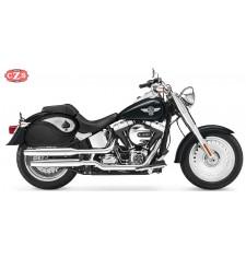Sacoches Rigide pour Fat Boy Softail Harley Davidson mod, VENDETTA - As de Pique - Spécifiques