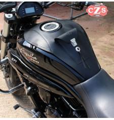 Panneau moto en cuir pour Hyosung Aquila GV650 Basique