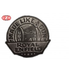 Parche de cuero vintage  Royal Enfield - MADE LIKE GUN -