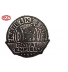 Patch en cuir vintage Royal Enfield - MADE LIKE GUN -