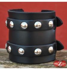 Bracelet classique avec Deux Sangles  - Noir -