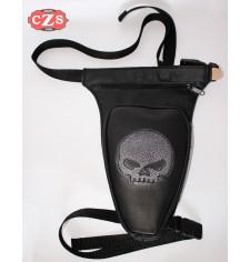 Revolver leg bag - Skull Vintage -