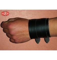 Bracelet basique avec Deux Sangles  - Noir -