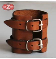 Bracelet basique avec Deux Sangles  - Brun Clair -