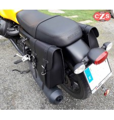 Set of saddlebags for Guzzi V7 III mod, CENTURION Basic Adaptable - Black