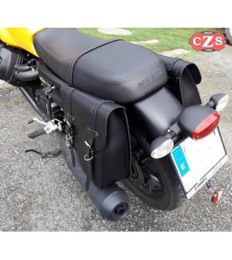 Set de Alforjas para Moto Guzzi V7 III mod, CENTURION Básica Adaptables - Negras