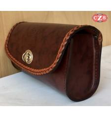 Bolsa de Pantalla Custom Trenzado (22 x 12 x 8)cm - Marrón