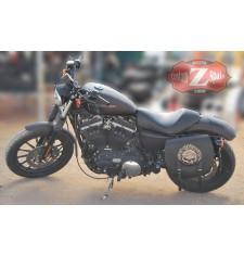Set de alforjas para Sportster Harley Davidson mod, SPARTA - Willie HD - Hueco amortiguador - Específica