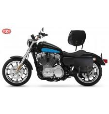 Set of saddlebags for Sportster Harley Davidson mod, SPARTA  Basic - Hollow Shock Absorber - Specific