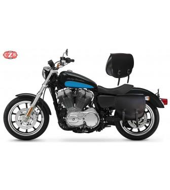 Set de alforjas para Sportster Harley Davidson mod, SPARTA Básicas - Hueco amortiguador - Específicas