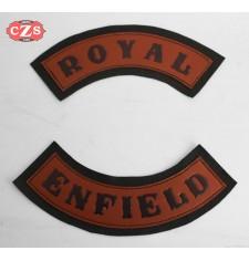 Patch en cuir gaufré mod, Royal Enfield