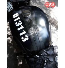 Corbata - Panel de depósito para Royal Enfield Bullet Classic 350/500cc mod, ORION - Específico - Negro