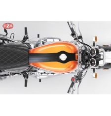 Panel de depósito - Corbata para Royal Enfield Interceptor GT 650  mod. ORION - Negro - Específico