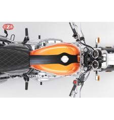 Tank panel - Tie - for Corbata para Royal Enfield Interceptor GT 650  mod. ORION - Black - Specific