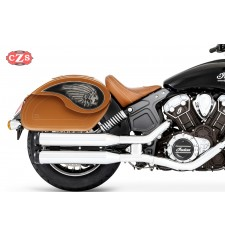 Rigide Saddlebags for Indian® Scout® Sixty mod, VENDETTA - Big boss  - Camel - Specific
