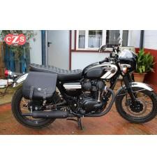 Set de Alforjas para W800 Kawasaki mod, SCIPION Básica - Adaptables - Negro