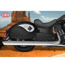 Alforjas Rígidas para Indian® Dark Horse® mod, VENDETTA - As de Picas -