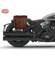 Sacoche pour Indian® Scout® Bobber mod, ADRIANO Basique - Brun - DROITE