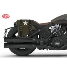 Sacoche pour Indian® Scout® Bobber mod, CENTURION PLATOON Spécifique - White Star - DROITE