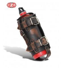 Verstellbarer Flaschenhalter für Custom und Classic Bikes - vintage Braun