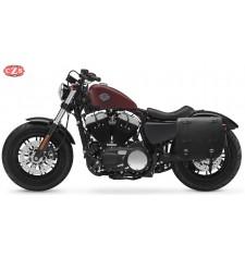 Alforja para Sportster Harley Davidson mod, ULISES Negra  - Específica - Izquierda