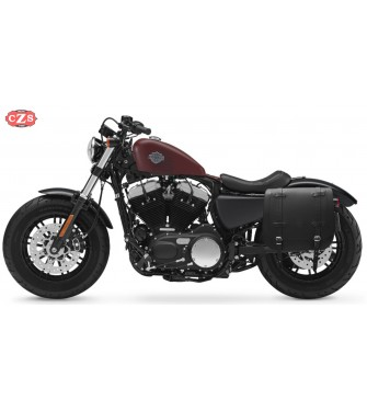 Alforja Vintage para Sportster Harley Davidson mod, ULISES Marrón  - Específica - Izquierda
