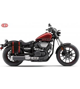 Alforja para Yamaha XV950 Bolt mod, CENTURION Negra / Roja - Específica - DERECHA