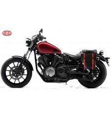 Alforja para Yamaha XV950 Bolt mod, CENTURION Negra / Roja - Específica - IZQUIERDA