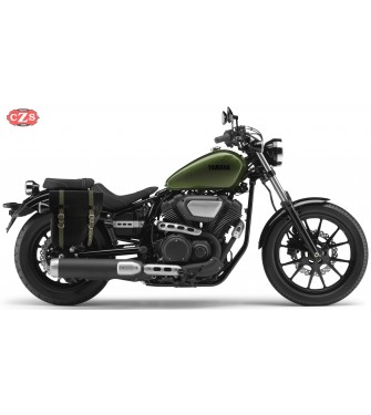 Alforja para Yamaha XV950 Bolt mod, CENTURION Negra / Verde - Específica - DERECHA