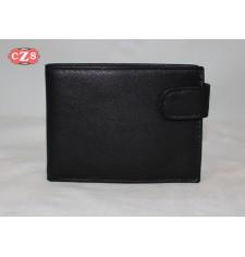Billetera  de piel color negro hecha a mano