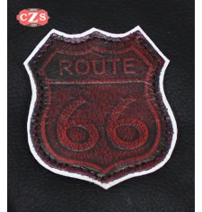 Embossed leather patch - mod, ROUTE 66
