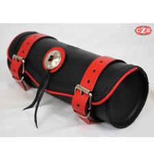 Tool bag Custom 1 concho - Profils rouges avec 1 concho - 29 cm x 11 Ø -