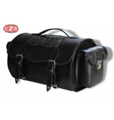 Baúl para motos Custom mod, TARRACO Gotico con bolsillos - UNIVERSAL
