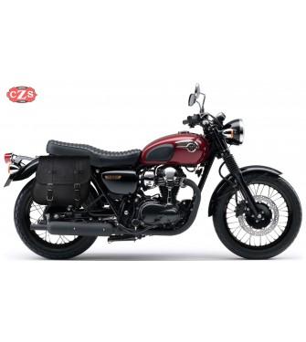 Alforja para Kawasaki W800-W650 mod, MULACEN - Específica con hueco Asas